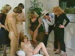 Retro, Classic, Group, Hairy, Orgy, Vintage
