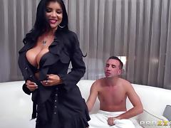 Beautiful Brunette With Huge Fake Tits Enjoying A Mind-Blowing Cowgirl Style Fuck