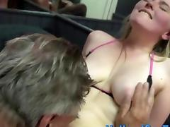Blonde babe wants a long boner