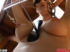 Busty brunette Holly Michaels butt plug ass gaping
