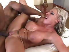 Black dick fucks blonde tube porn video