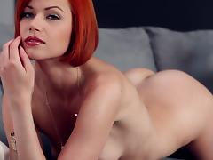 Glorious Kami Shows Her Shaved Pussy In A Solo Model Video
