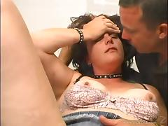 Brunette Gets Drilled By A Machine While She Blows A Hard Cock