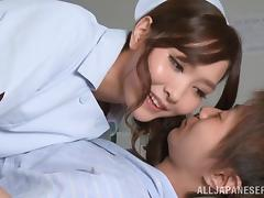 Hot Japanese Nurse Gives A Sexy Blowjob And Footjob