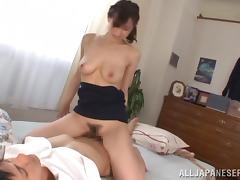 Gorgeous Ki Hanyuu Rides Like A Wild Cowgirl On Top Of A Horny Man