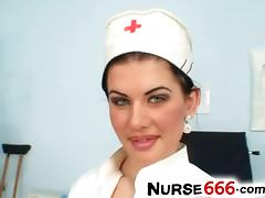 Czech nurse Rihanna Samuel uniform fetish tube porn video