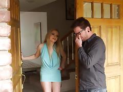 Blonde Cougar Treats a Younger Guy to a Great Blowjob