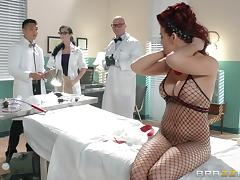Doctor, Big Tits, Doctor, Fishnet, Lingerie, Reality