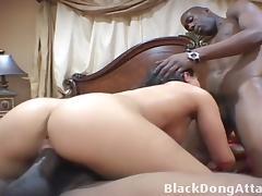 Puerto Rican slut takes two black dicks tube porn video