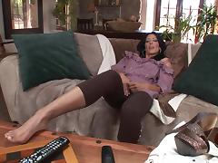 Tattooed MILF Rides a Younger Guy's Shaft