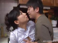 Mom and Boy, Asian, Babe, Blowjob, Doggystyle, Horny
