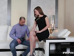 Ksurina licks a wang clean after passionate anal pounding