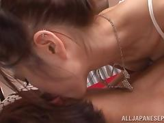 Arisa Aizawa naughty Asian babe gets a hard fuckling creampie tube porn video