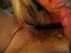 Blonde Mature Wife Sucks Cock And Swallows Hubbys Cum