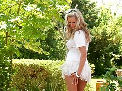 A hot solo scene with the beautiful blonde babe Sandra Hill