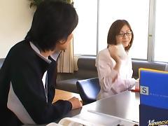 Yuma Asami Has Her Hairy Teacher Pussy Drilled tube porn video