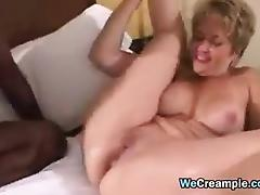 Housewife, Blonde, Creampie, Housewife, Interracial, Mature