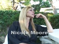 Busty blonde MILF Nicole Moore gets punished poolside porn tube video