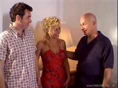 Blonde MILF Gets A Nasty Threesome In Front Of Her Cuckold Husband