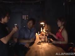 Satou Haruka naughty Asan hottie gets two cocks in DP