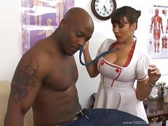 Nurse Ava Devine is fucked by a patient with a monster cock