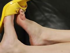 Goddess Melanie - Leg and Foot Show Jerk Off Instructional porn tube video