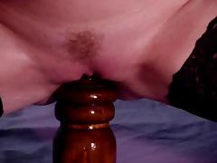 Huge dildo insertion