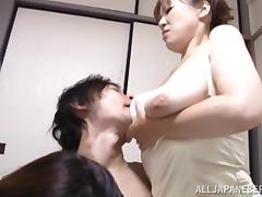 Japanese MILFs Get Drilled POV In This Hot Threesome