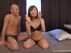 Japanese beauty Kokone Mizutani enjoys getting fondled and fucked