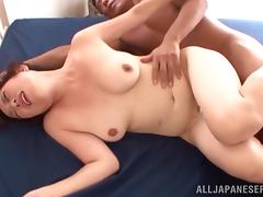 Chubby Japanese milf gets her cunt licked and banged from behind tube porn video