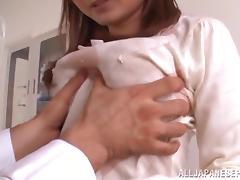 Buxom teacher Rina Ishihara has sex in a hospital