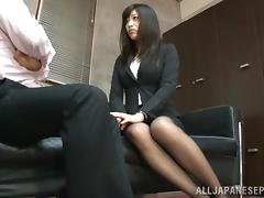 Boss, Asian, Babe, Blowjob, Boobs, Boss