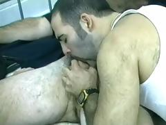 Three Horny Studs Enjoy Pleasing Their Kinky Cravings