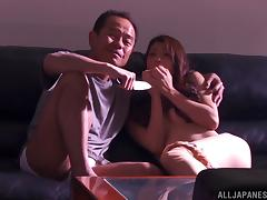 Asuka gets her hairy Japanese cunt banged from behind and creampied