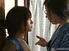 Bath, Asian, Bath, Fingering, Glasses, Hairy