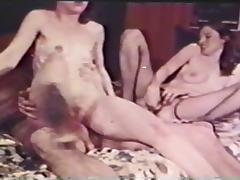 Vintage Early 70s Threesome tube porn video