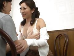 Mom and Boy, Asian, Babe, Big Cock, Big Tits, Blowjob