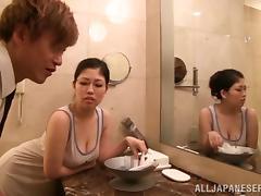 Bathing, Asian, Bath, Bathing, Bathroom, Couple
