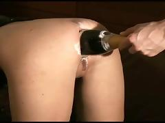 champagne bottle in beauty ass