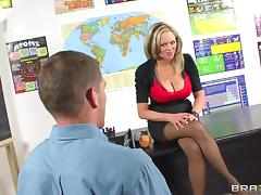 Incredible banging scene with big-breasted blonde teacher Katie Kox
