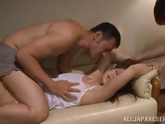 Asian babe Kaede Niiyama wit perfect tits gets drilled