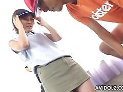 Inviting Japanese gal groans while being dicked hard tube porn video