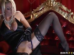 Tia Layne moans as she's penetrated by a large cock