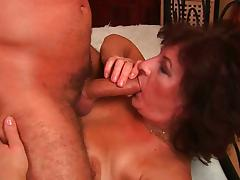 Horny grannies getting naughty with big cocks.