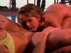British Milf Nici Stirling in lesbian Strap-on action tube porn video