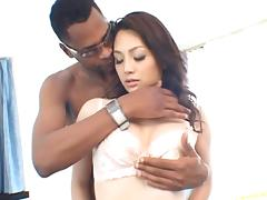 Black cock tears gorgeous Saeko Kimishima tight pussy apart tube porn video