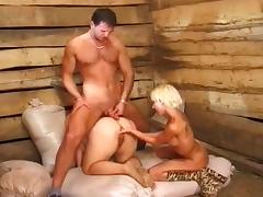 Farm Sex Threesome tube porn video