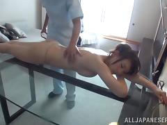 Japanese Babe Gets Fingered During A Nasty Oily Massage tube porn video
