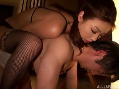 Horny Asian In Sexy Lingerie Dominates Her Boyfriend