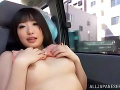 Car, Asian, Boobs, Car, Couple, Handjob